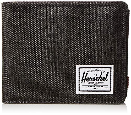 Herschel Herren Roy + Coin RFID Zweifalten-Geldbörse, Schwarze Kreuzschraffur, Einheitsgröße