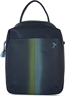 Baggit Spring-Summer 2021 Faux Leather Women's Backpack Handbag (Blue) (Brunt)
