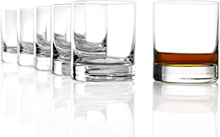 Stölzle Lausitz New York Bar Whiskyglas pur I 320 ml I 6er Set Whisky Gläser I spülmaschinenfest I edles bleifreies Kristallglas I ausgezeichnete Qualität I besondere Gläser