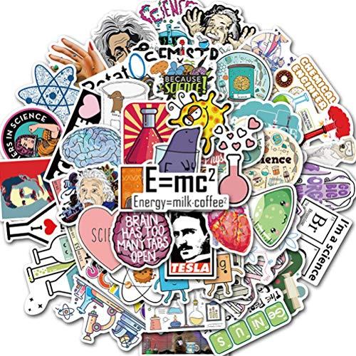 50 Stks Wetenschap Experiment Chemie Programma Ontwerp Sticker DIY Laptop Computer Telefoon Koffer briefpapier Waterdichte Sticker