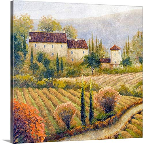 "Tuscany Vineyard I Canvas Wall Art Print, 16""x16""x1.25"""