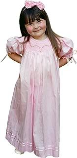 Baby Girls Hand Smocked Pink Birthday Bishop Easter Dress