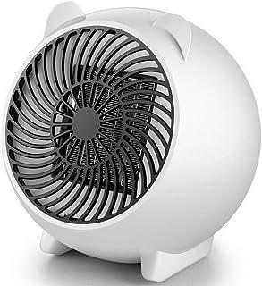 Guoyajf Calentador Portátil,Calefactor eléctrico con Elemento cerámico PTC W/Sobrecalentamiento y Protección contra Caídas para el Piso de Mesa de la Oficina en casa para Interiores y Viajes,White