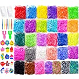 Rainbow Rubber Bands Refill Kit Set Includes 13000+ Loom Bands in 31 Colors + 500 Clips+ 6 Hooks + 30 Charms bracelet rubber Oct, 2020