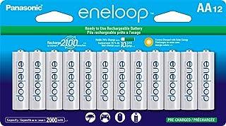 Baterias recarregáveis pré-carregadas Panasonic BK-3MCCA12FA eneloop AA 2100 Ciclo Ni-MH, pacote com 12