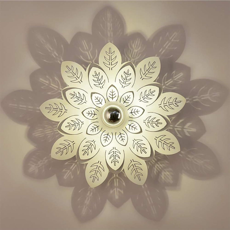 LIGHTLAMPER Romantisch Bunte Stein Modern Einfach Blaume Wand Metall   E27   Led Wandbeleuchtung Kunst Dekoration Innenbeleuchtung Effektlampe