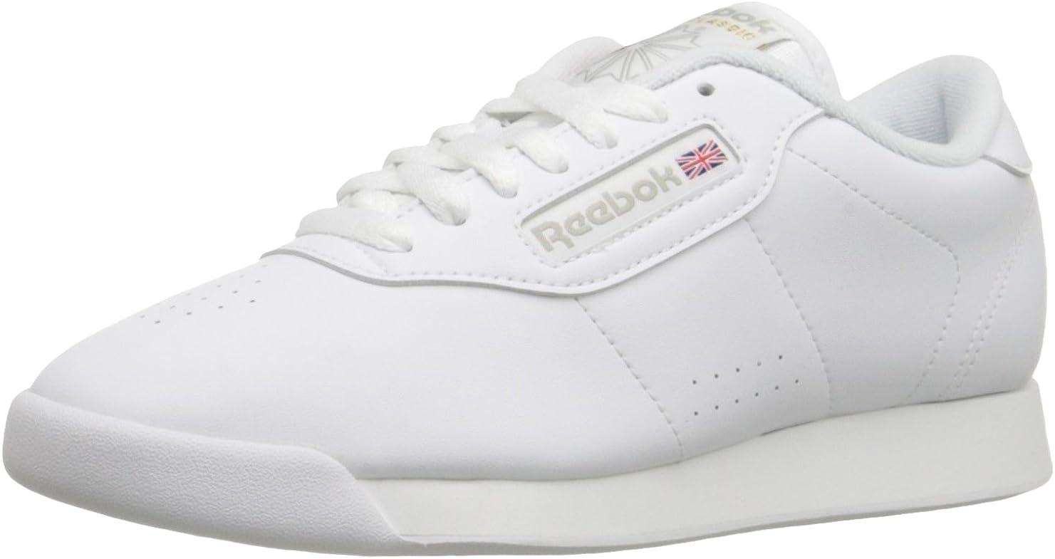 Oír de calcular Consulado  Amazon.com | Reebok Womens Princess White 10 Low-Top Sneakers 1475 |  Fashion Sneakers