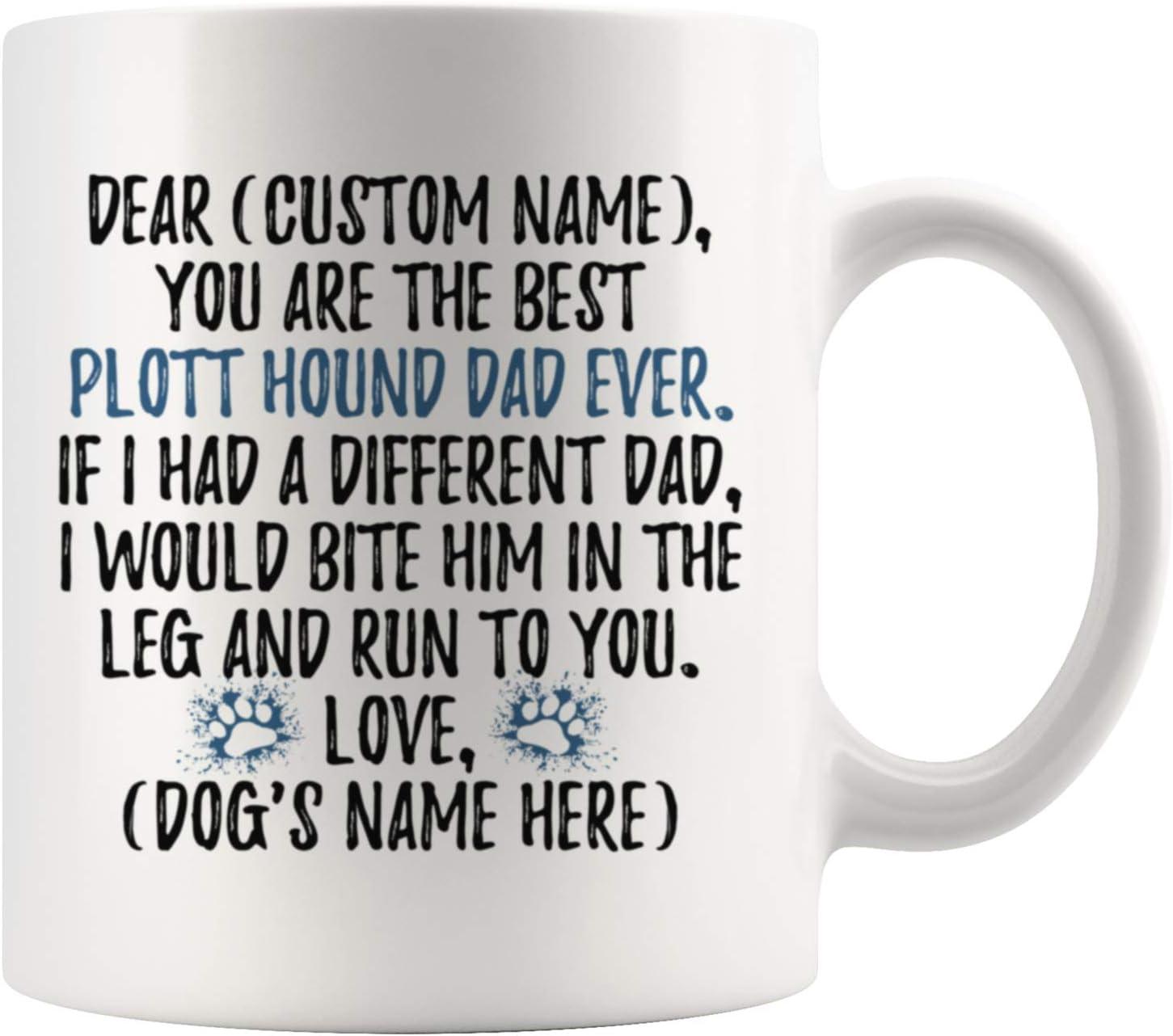 Details about  /Personalized Poligar Hound Dog Dad Coffee Mug Indian Sight-Hound Owner Men Gift