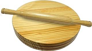 WhopperIndia Wooden Rolling Board & Roller, Chakla Belan, Polpat Belan, Tortilla Maker, Chapati Maker For Kitchen 22.86 cm