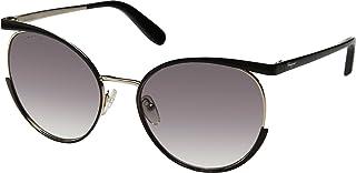 Salvatore Ferragamo Women's Sunglasses - Sf165S-017 58, 140 mm, Black Lens, Round Frame