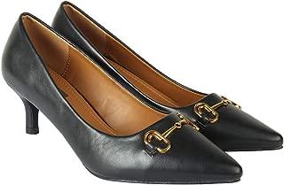 Flat n Heels Womens Black Pumps FnH 2260-N11-BK