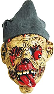 Zombie Masks Adult Horror Latex Halloween Hobo with Knitted Hat Brown