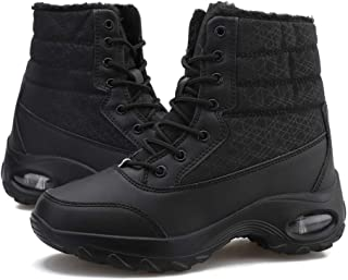 Botas de Nieve Mujer Invierno Cálido Calentar Piel Forro Botines Planas Snow Boots Antideslizante Impermeables Botas Furty...
