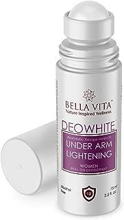 Bella Vita Organic Deo White Deodorant For Women Roll On Natural Under Arm Skin Whitening & Lightening For Girls, Ladies, 75 ml