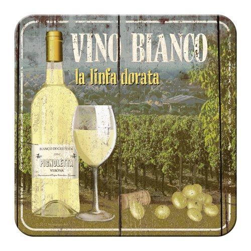Nostalgic-Art 46125 Bier und Spirituosen Vino Bianco, Untersetzer