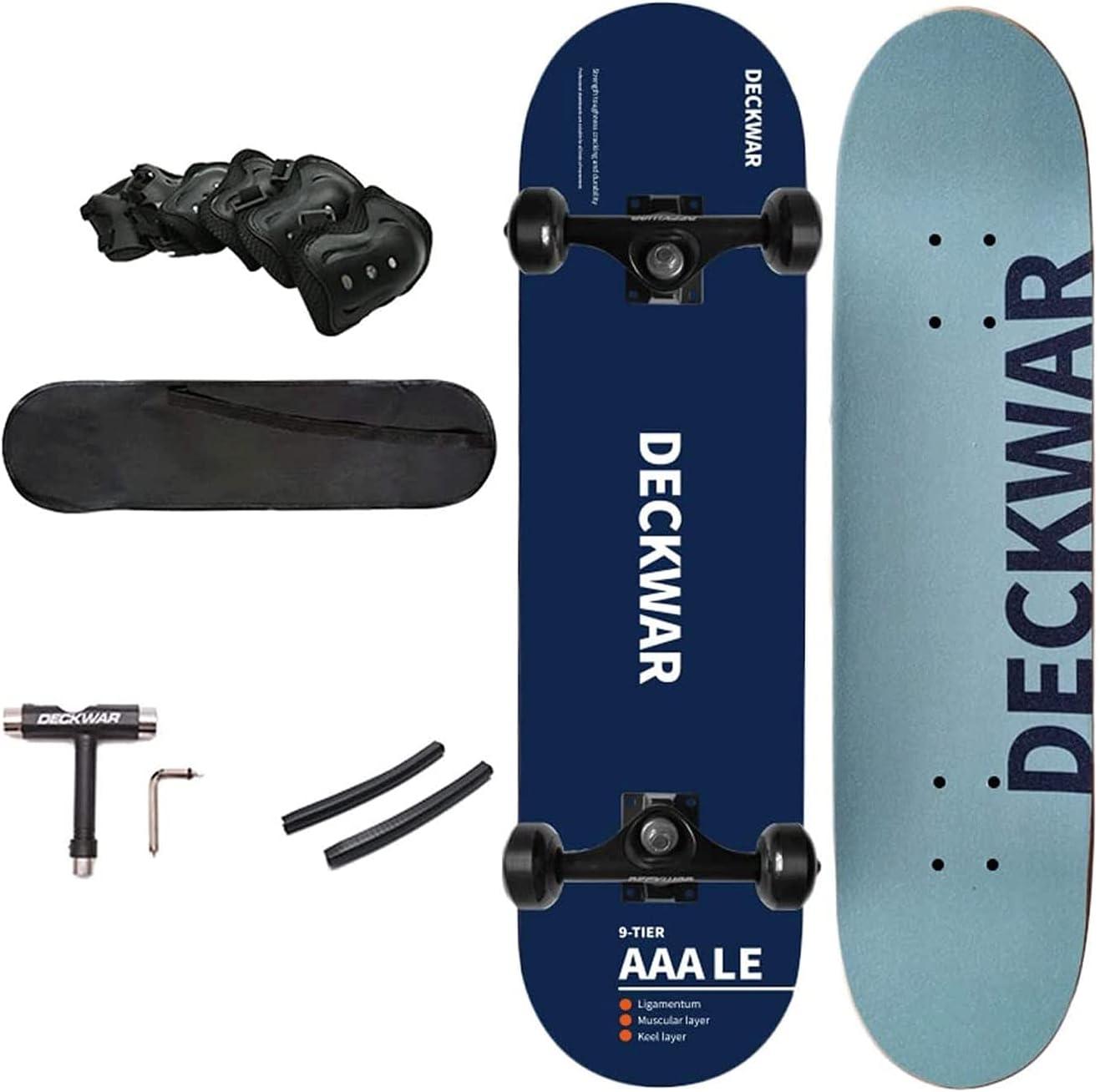 EEGUAI Tampa Mall 31 inch Skateboard Double Skate Longbo Cruiser Kick Seasonal Wrap Introduction Board