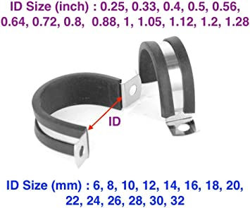 Pack of 1 Plumbing Filter 1.6-1.8 Inch 41-46mm Hose Autobahn88 Stainless Steel Hose T-Bolt Clamp with Stand Cradle Fit for Hose OD Size = for Fuel Pump