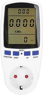 Power Metering Socket, Elektriciteitsgebruik Monitor Plug Power Spanning Stroommeter met LCD-scherm Overbelastingsbeveilig...