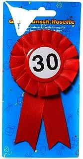 Preis am Stiel 1 x Geburtstags Anstecker 30 | 30. Geburtstag | Ansteckbutton