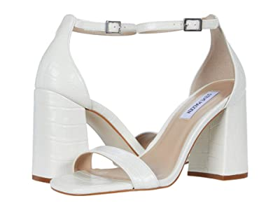Steve Madden Dillion Heeled Sandal (White Croco) Women