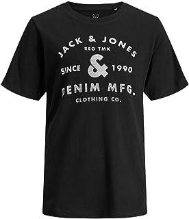 Jack & Jones Men's Jjejeans Short Sleeves Crew Neck Noos Jr T-Shirt, Black