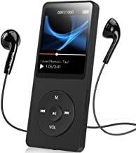 AGPTEK A02S 16GB MP3 Player with FM Radio, Voice Recorder, 70 Hours Playback and Expandable Up to 128GB, Black photo
