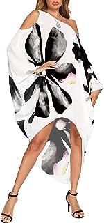 Women's Summer Maxi Long Cold Shoulder Loose Kaftan Flowy...