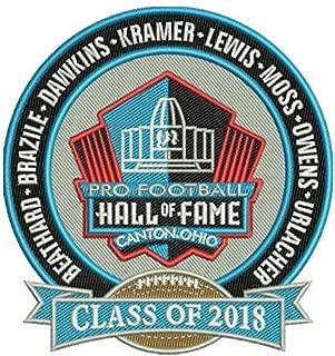 Football PRO Hall of Fame Patch NFL HOF Class of 2018 Canton Ohio BEATHARD, Dawkins, Kramer, Lewis, Moss, Owens, Urlacher, Brazi Super BOWLPRE-Order Item - Shipping Begins ON October 5TH