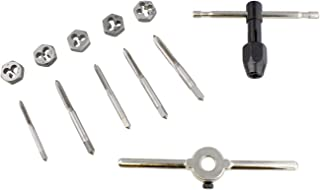 ABN Fractional Taps and Dies Set, 12-Piece – Thread Maker Tapping Set, Thread Repair Kit, Taps Set and Thread Die Set