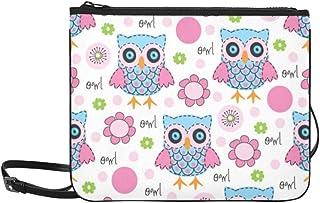 Colorful Owl Custom High-grade Nylon Slim Clutch Bag Cross-body Bag Shoulder Bag