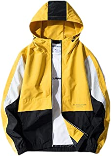 Alueeu Mens Jacket Hoodie Winter Hat Removable Cotton Jacket Thickening Warm Cotton Padded Coat