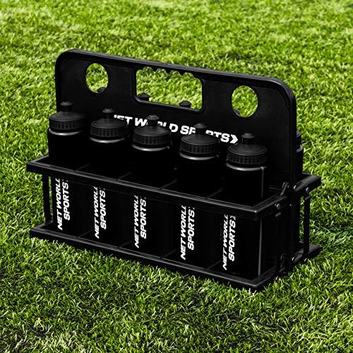 FORZA 10 Borracce e Portaborracce [750 ml] - Plastica Senza BPA [9 Colore] (Nero)