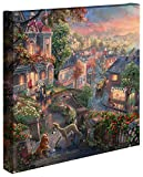 Thomas Kinkade - Gallery Wrapped Canvas , Lady and the Tramp , 14' x 14' , 61338