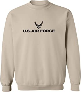 Air Force - Military Style Physical Training Crewneck Sweatshirt in Sand