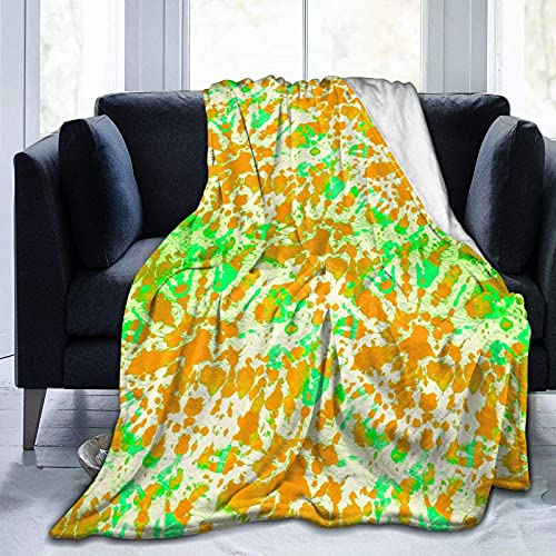 Manta de Felpa Suave Cama Teñido Anudado de Jade Manta Gruesa y Esponjosa Microfibra, Suave, Caliente, Transpirable para Hogar Sofá , Oficina, Viaje