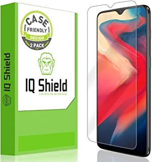 OnePlus 6T Screen Protector [Case Friendly][2-Pack], IQ Shield LiQuidSkin Screen Protector for OnePlus 6T HD Clear Anti-Bu...
