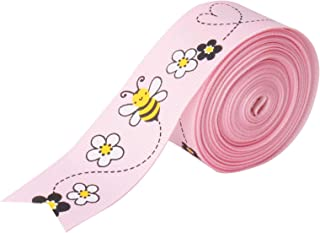Mother's Day Gift Wrapping Fabric Ribbon for Crafts, 25 mm x 16.4 ft Pink
