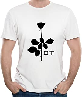 90c0fb4f67 Gody Men s Depeche Mode Rock Band Violator Poster O-neck Funny Shirts White  M
