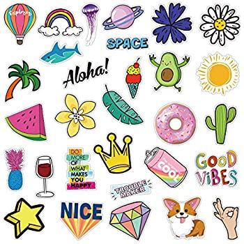 Alliebe Vsco Stickers for Water Bottles Laptop Stickers Waterproof Stickers Pack Cute Aesthetics Stickers for Teens Girls 50 Pieces