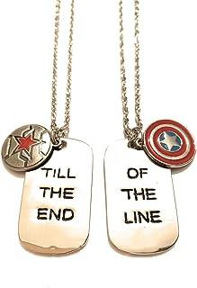 giulyscreations Collane Metallo Nichel Free Captain America e Bucky Barnes Scudo Capitan America Till The End of The Line ...