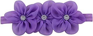 Surprise S Headband Flower Pink Ribbon Hair Bands Headbands Turban Newborn Haarband Baby Hair Accessories,Style6 Pink-Style4Purle-