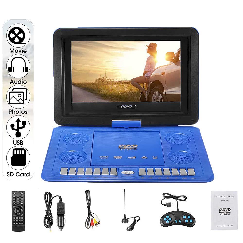 Ashey Reproductor de DVD, 270 Rotación, 13.8 Pulgadas, TV HD portátil, Hogar, Coche VCD CD MP3 MP4 Reproductor de DVD Recargable para automóvil, Reproductor de Juegos Multimedia: Amazon.es: Deportes y aire libre