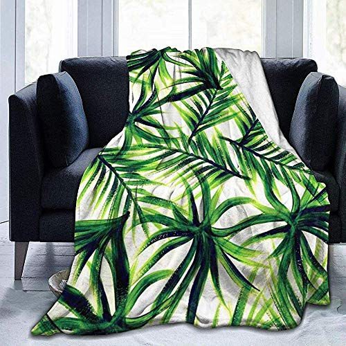 balaclava Palm Tree Leaves - Manta de franela ultrasuave de terciopelo