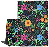 All-New Fire HD 10 Tablet Case, Suprin Slim PU Leather Flip Stand Case Soft TPU Cover with Auto Wake/Sleep for All-New Fire HD 10.1 Inch Tablet(2019/2017 Release,9th/7th Generation), Flower