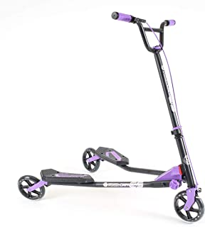 Yvolution Y Fliker Carver C5 | Kids Adult Drifting Wiggle Scooter with 3 Wheels Self Propelling