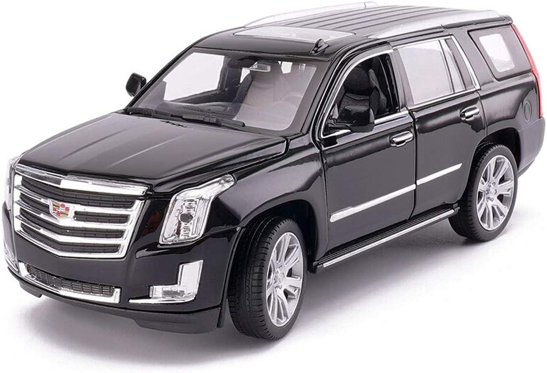 más orden FDHLTR Modelo de Coche Coche 1 24 Cadillac Escalade Escalade Escalade simulación de aleación de fundición de Juguetes Adornos de colección de Coches Deportivos Joyas 19.2x8.4x7CM Modelo de Auto (Color   negro)  bienvenido a comprar