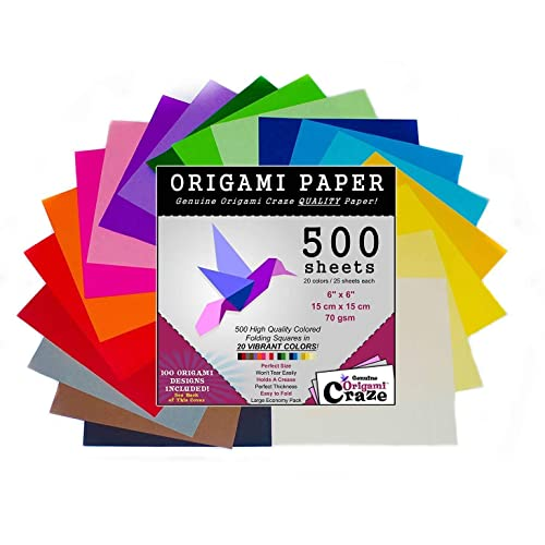 20 Vivid Colors 2-inches Square 100 Design E-Book Included Premium Quality for Arts and Crafts Same Color on Both Sides See Back of The Cover for Download info Mini Origami Paper 200 Sheets