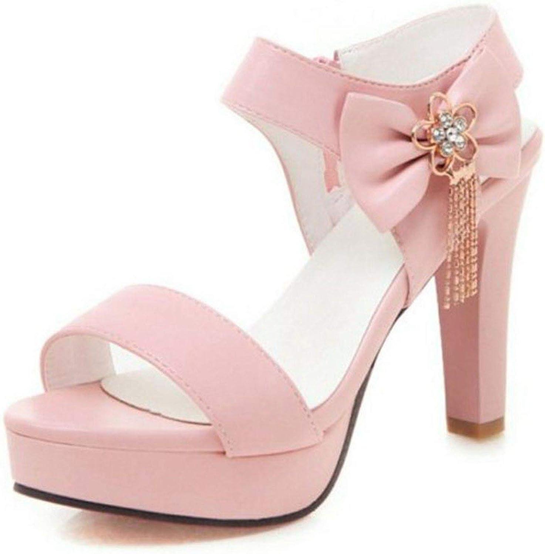 Jifnhtrs Bowknot Crystal Platform Sandals Zipper Flower Metal High Heel shoes Women Sexy Party Sandals