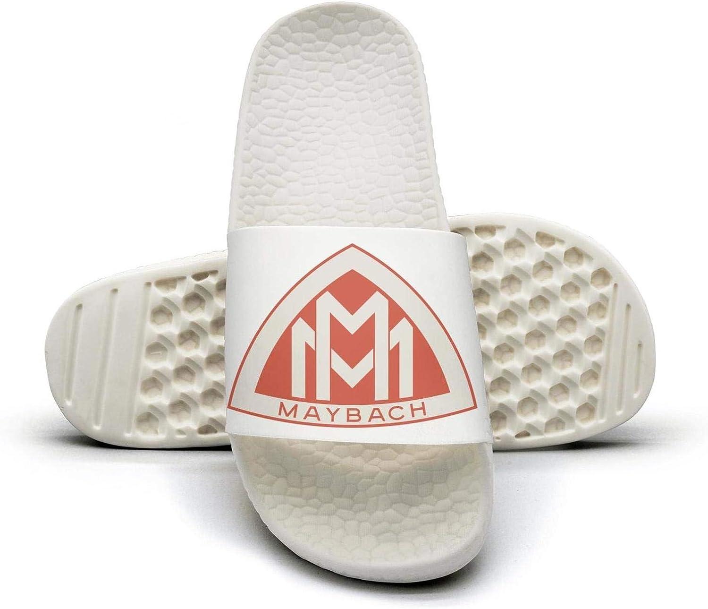 EIGKASL Printed Non-Slip Slippers Slides flip Flop Sandals Maybach-Logo-red-Symbol-Emblem-Summer Fashion for Womens