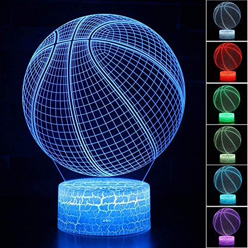 3D Illusion Night Light with Remote Basketball Night Light Touch Remote Led 3D Light Color Changing Baby Children Bedside Sleeping Night Lamps